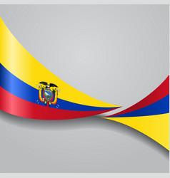 Ecuadorian wavy flag vector
