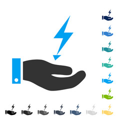 Electricity supply hand icon vector