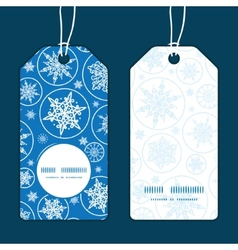 Falling snowflakes vertical round frame pattern vector