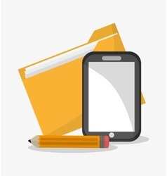 File smartphone and document design vector image