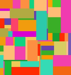 Flat colorful pattern with chaotic rectangles vector
