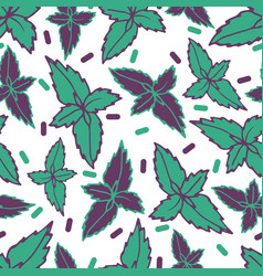 gentle flower seamless pattern vector image