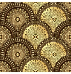 Gold and brown seamless pattern vector image