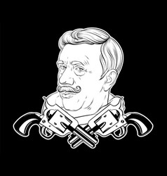 hand drawn old man with moustache vector image