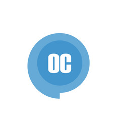 initial letter logo oc template design vector image