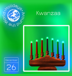 kwanzaa african american festival in the united vector image