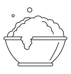 laundry bubble icon outline style vector image