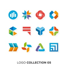 logo collection 5 vector image