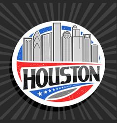 logo for houston vector image
