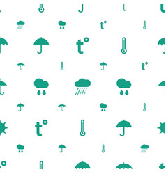 meteorology icons pattern seamless white vector image