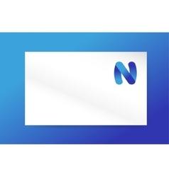 N letter logo icon monogram business card vector image