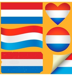 Netherlands icon set of flags vector image