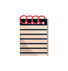 notepad with spiral office work business equipment vector image