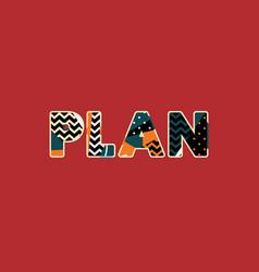 Plan concept word art vector