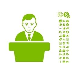 Politician Icon With Free Bonus vector