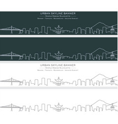 Portland single line skyline banner vector