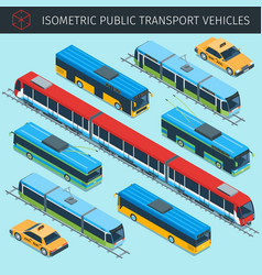 Public transport vehicles vector