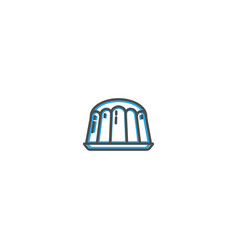 Pudding icon design gastronomy icon vector