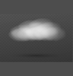 realistic cloud isolated template for your design vector image