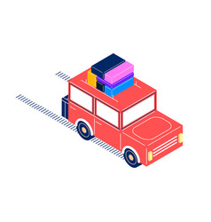 Retro car isometric style vector