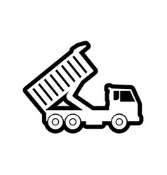 sand truck icon design template isolated vector image