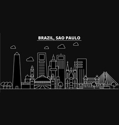 sao paulo silhouette skyline brazil - sao paulo vector image