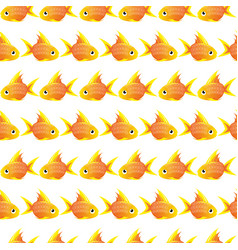 Seamless pattern with large goldfish vector