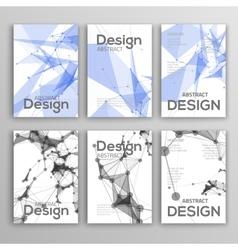 Set flyer brochure design templates geometric vector