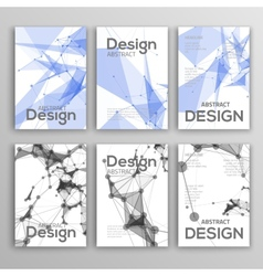 Set of Flyer Brochure Design Templates Geometric vector