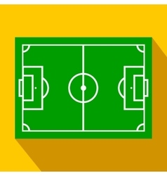 Soccer field layout flat icon vector