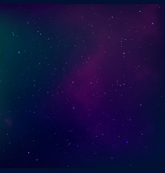 starry night sky universe nebula outer space and vector image
