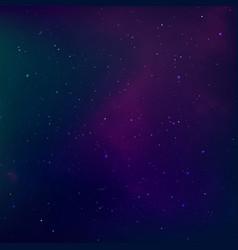 Starry night sky universe nebula outer space vector