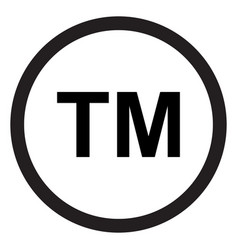 Trademark symbol registered icon vector