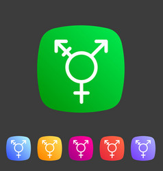 Transgender lgbt transsexual icon flat web sign vector