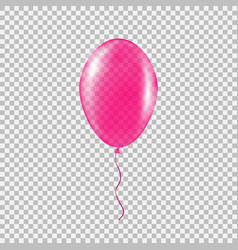 Transparent pink helium balloon vector