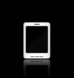 white smart phone vector image