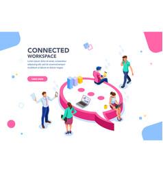wifi concept isometric vector image