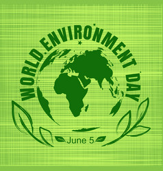 World environment day card design vector