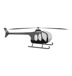 Helicopter icon gray monochrome style vector image