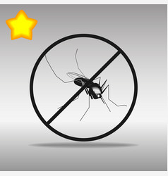 Mosquito ban black icon button logo symbol vector