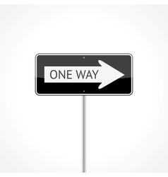 One way traffic sign vector image vector image