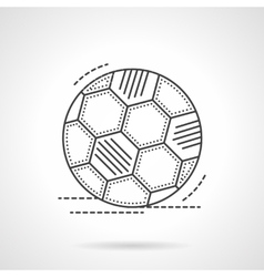 Soccer ball flat line icon vector image vector image