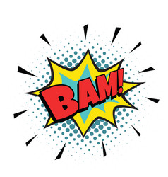 bam comic bubble vector image