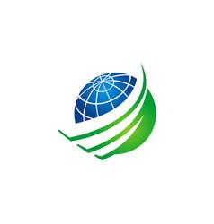earth globe sphere abstract logo vector image