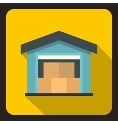 House icon flat style vector image vector image