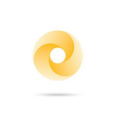 abstract shape yellow 3d torus eps10 vector image