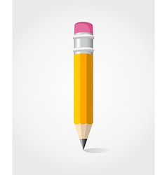 Back to School yellow pencil vector image