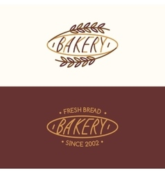Set of Linear bakery vector image