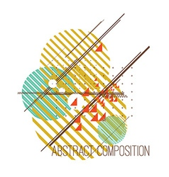 Abstract composition with colorful simple vector image
