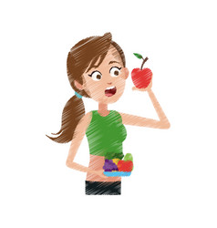 healthy eating related icons image vector image